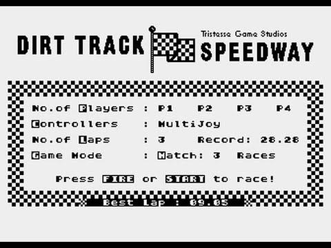 Dirt Track Speedway (Atari XL/XE game)