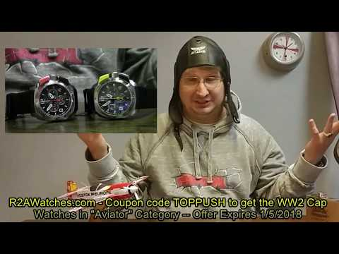 Keep Watching -- R2A Watches Show Aviator MiG Professional Top Pusher Chronograph