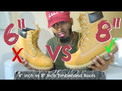 6 inch Timblerands vs 8 inch Timberland boots | On Feet Comparison