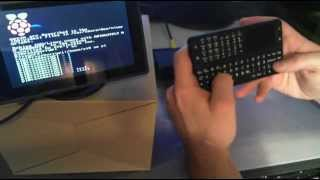 raspberry pi mit mini wireless keyboard und touchpad
