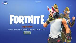 "HOW TO FIX  ""Fortnite Network Failure When Attempting To Check Platform Restrictions"""
