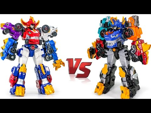 Thumbnail: DinoCore Ultra D Saver Cerato VS Ultra Deverster Tyrano Dinosaur Combiner Transformers Dino Car Toys