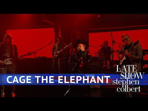 DZL - Cage The Elephant performs Ready To Let Go on Colbert... in latex!