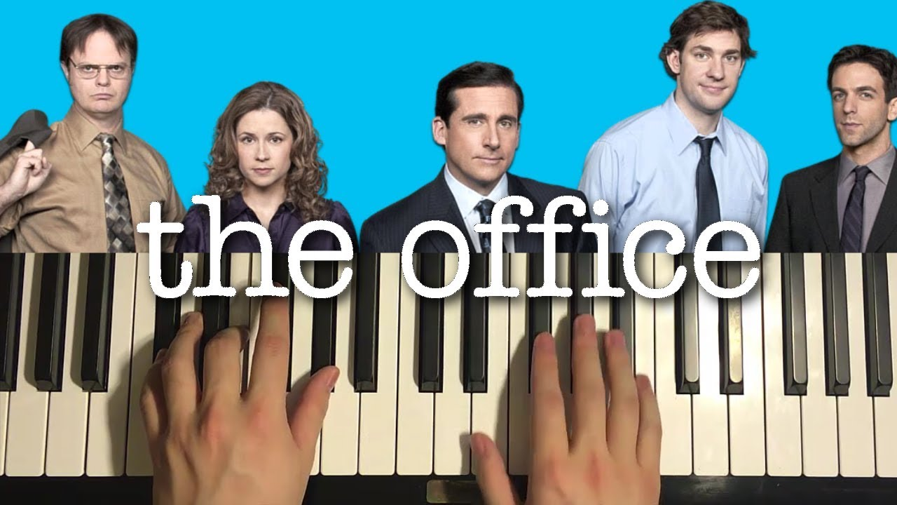 the office - theme song  piano tutorial lesson