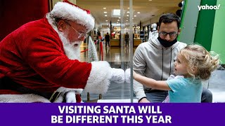 Santa has to follow social distancing guidelines too