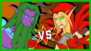 Malfurion v Valeera: A Hearthstone Cartoon | Wronchi Animation