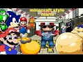 Minecraft Style Mario REMIX пародия на игру марио