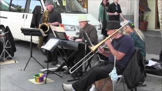 Old time jazz at Old Monterey Farmers Market 2014 04 15