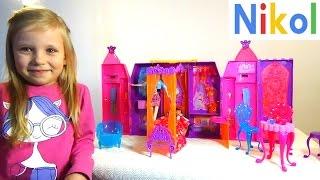 Николь строит большой дом Барби с 3-мя комнатами !