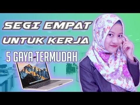 Segi Empat Untuk Kerja 5 Gaya Termudah Simple Office Look Hijab Nmy Hijab Tutorials Youtube