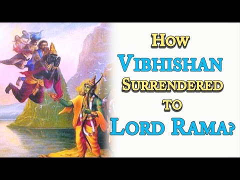Ramayana - How Vibhishana Surrendered to Lord Rama? By Swami
