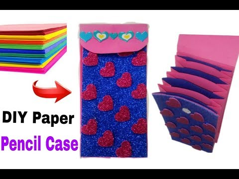 How To Make Paper Pencil Case Easy And Beautiful | DIY Paper Pencil Case| Ruks Art N Craft