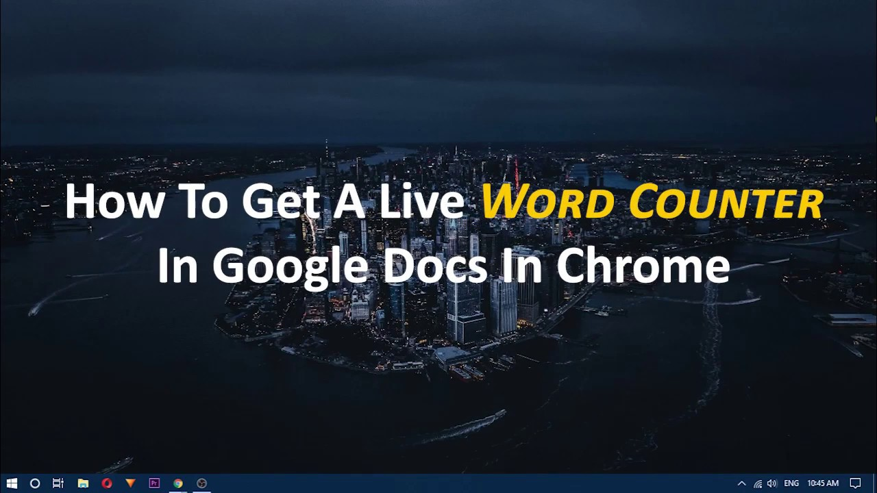 Google Docs finally gets a live word counter