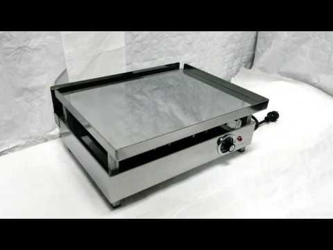 A la plancha el ctrica de hosteler a 345 doovi for Plancha electrica para cocinar