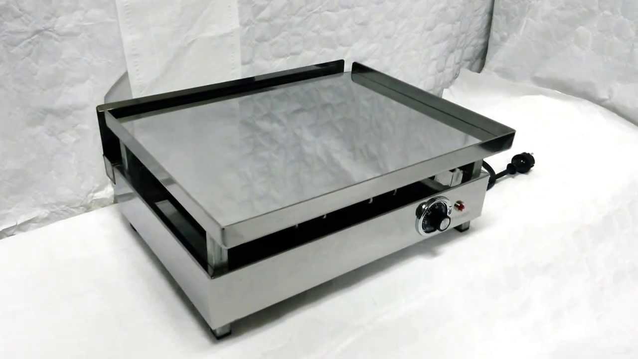 Plancha electrica para cocinar cromo duro 475 youtube for Plancha electrica para cocinar