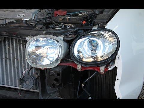 Toyota Celica Fix -- Install the Japanese Kouki Headlights ...