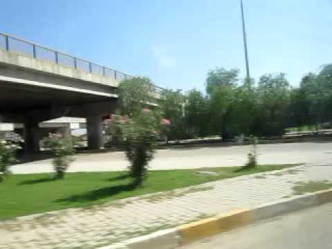 driving through Adana streets to the city center