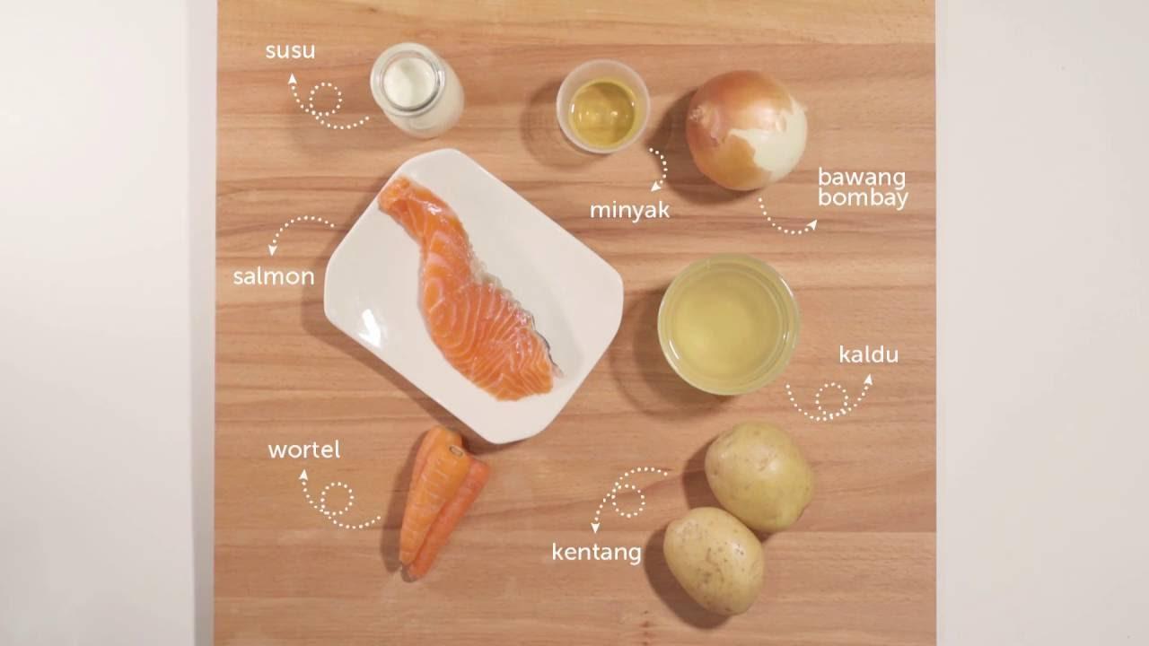Yummy Bites Mpasi Creation Dari Ikan Salmon Youtube