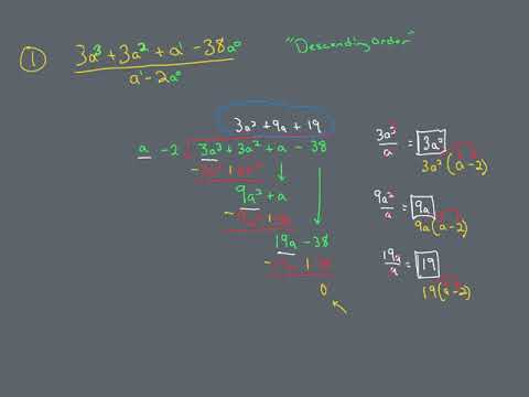 Long Division (i.e. the Division Algorithm)