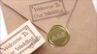 Welcome to our wedding stamp 【Japanese Rubber Stamps】