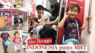 Zara Cute coba Naik Kereta MRT Jakarta | Inspirasi Weekend Keluarga