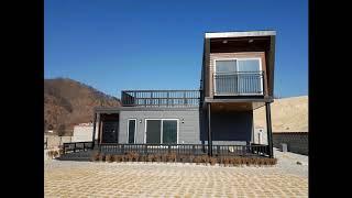 여주강천에 건축한 모듈러주택 30평형(경량목조주택)_(…