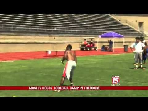 C.J. Mosley Hosts Football Camp in Theodore