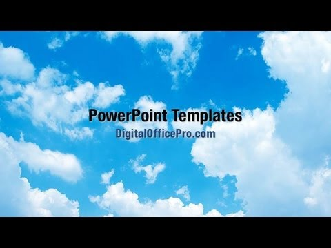 Sky Clouds Powerpoint Template Backgrounds Digitalofficepro