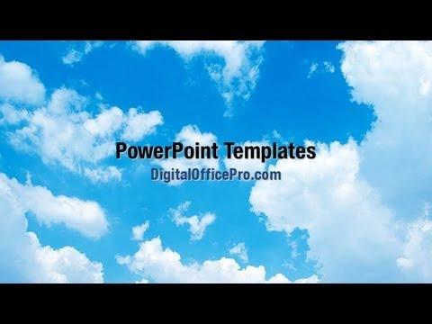 sky clouds powerpoint template backgrounds - digitalofficepro, Modern powerpoint