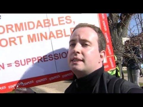 Staples : Mobilisation contre la restructuration (Essonne)
