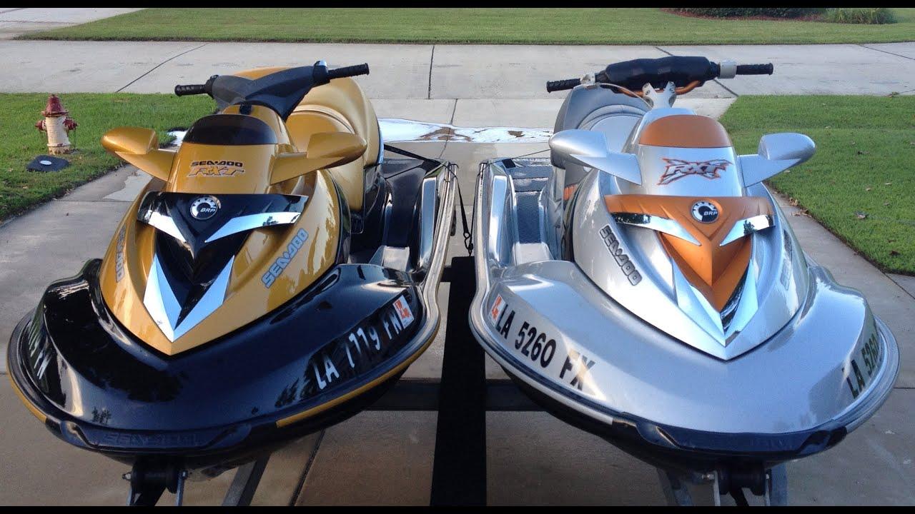 2007 Seadoo Rxt 215 vs 2008 Seadoo Rxt X 255 Drag Race - YouTube