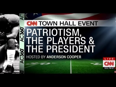 CNN Town Hall Event Patriotism The NFL Players & The President #nfl