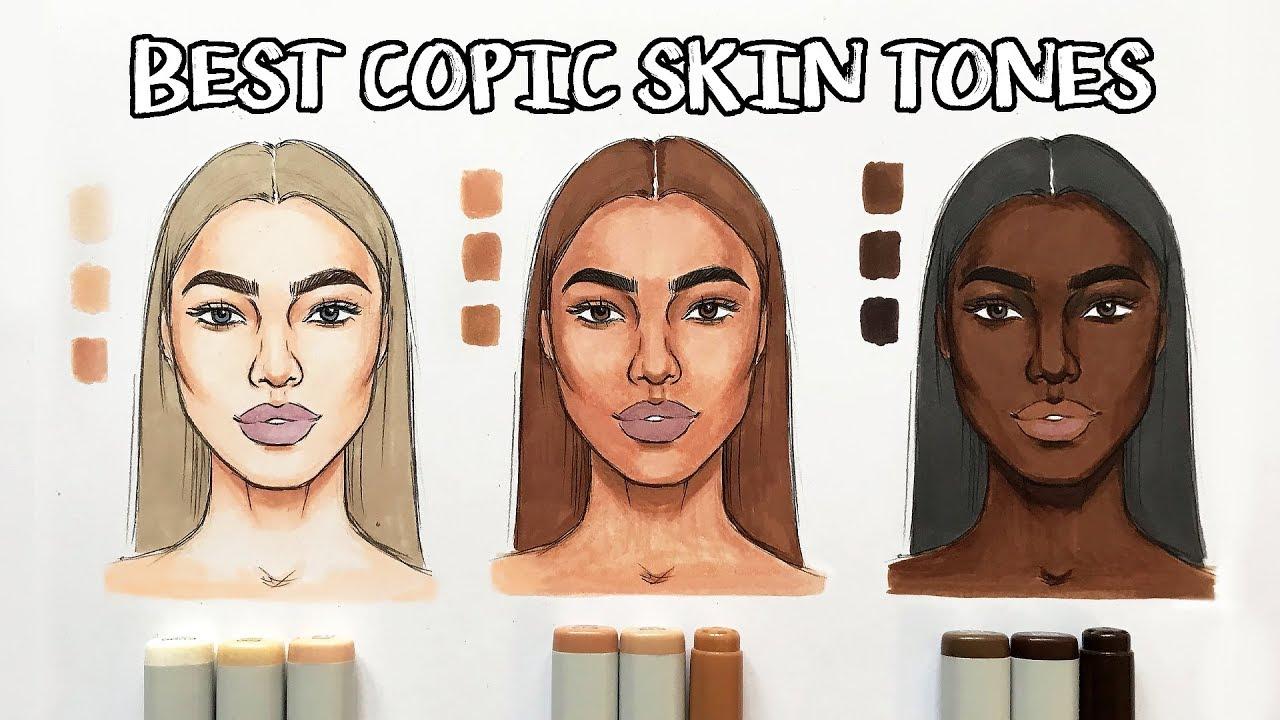 Best Copic Skin Tones