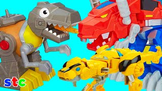 Mr Potato Head Transformers Bumblebee rescata a Grimlock
