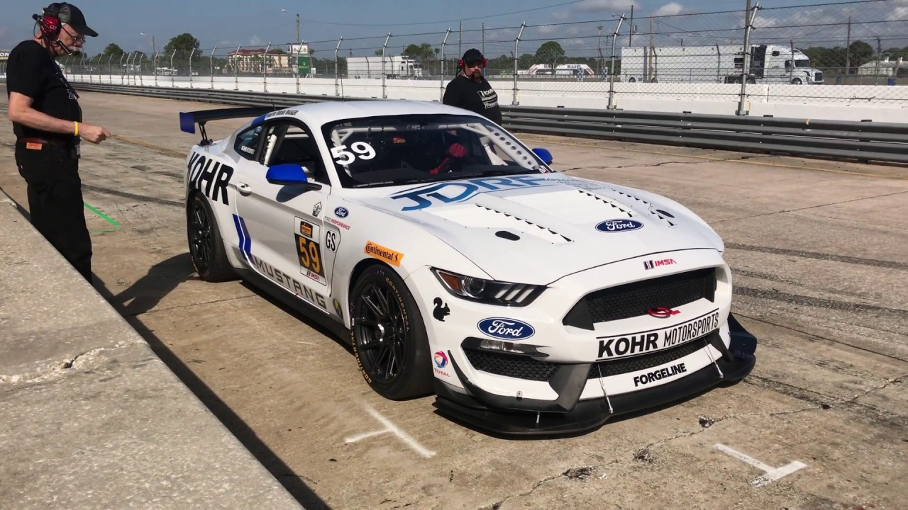 Roush performance rs3 ford mustang gt4 private track day at sebring part ii 4k