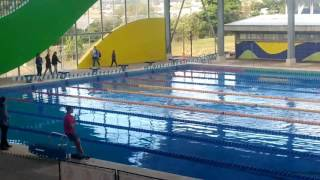 Acuatlon ACATRI enero 2017. Sebas 2do Lugar.  200 natación,  2km atletismo.