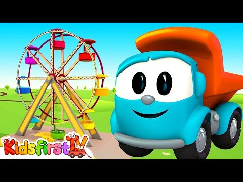 Leo the truck - Animation for kids. The Ferris Wheel.