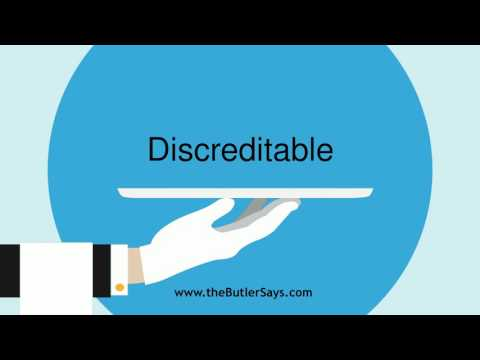 """Learn how to say this word: """"Discreditable"""""""