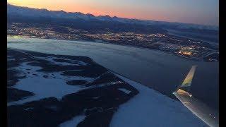 Beautiful Sunrise Takeoff! Anchorage to Seattle on Alaska Air 737-900