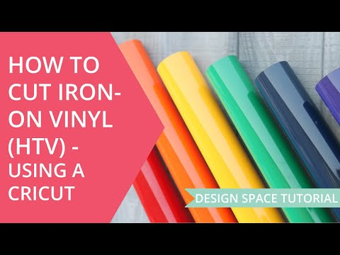 How to Cut Heat Transfer Vinyl on a Cricut - Iron On