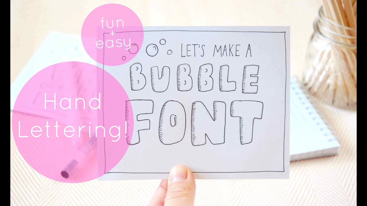 How To Hand Letter: Bubble Letters! - YouTube