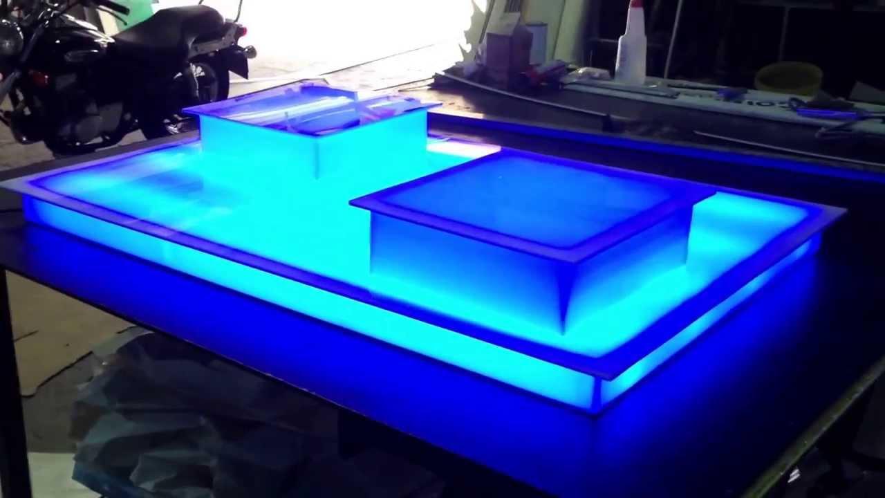 Mesa de metacrilato iluminada led competicion pasteleria youtube - Mesas de metacrilato ...