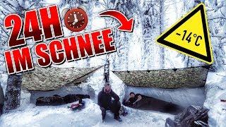 24H BIWAK im Schnee mit neuer Ausrüstung - Biwaksack & Defense 6 - Overnighter Übernachtung