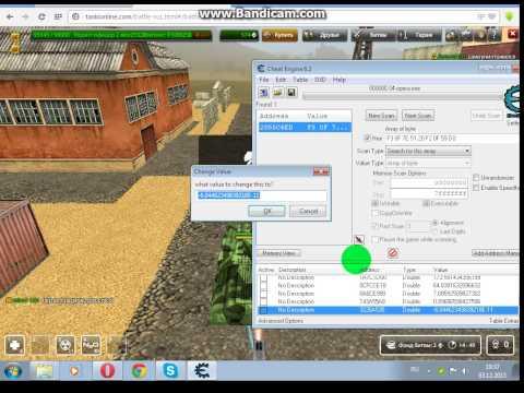 Чит на прыжок в Танках онлайн с помощью программы Cheat Engine 6.2