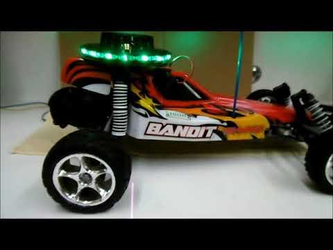 Sunflower Led Lights On R C Traxxas Bandit Car Youtube
