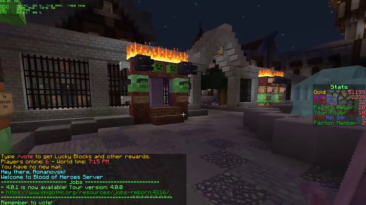 BloodHeroes.net MoveCraft Factions Server 1.12.2 Airship Pirates