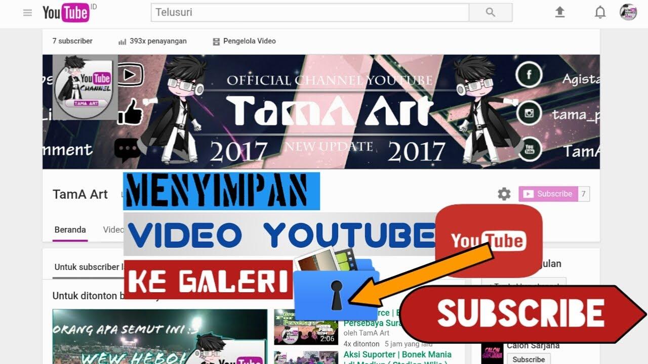 cara save video dari youtube ke galeri