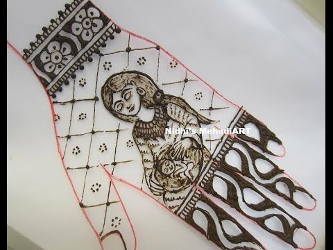 Mehndi For Shrimant : Pregnancy period baby shower special henna mehndi design tutorial