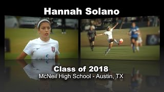 Hannah Solano Soccer Recruitment Video - Class of 2018