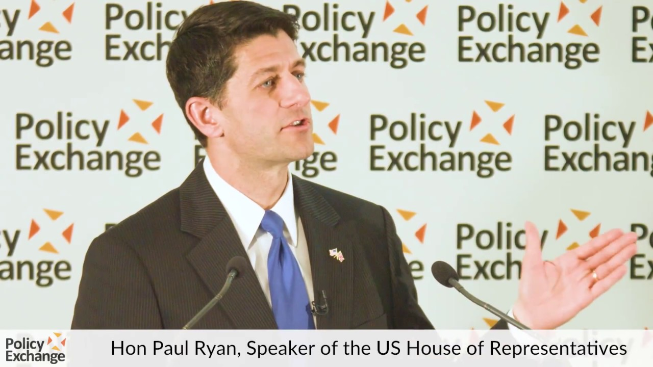 Hon Paul Ryan speaks at Policy Exchange – Question & Answer Session